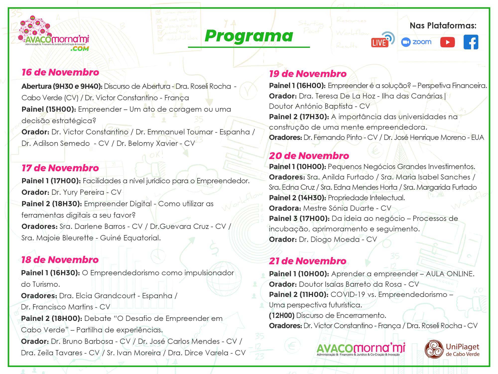 Calendário Projeto S.E.