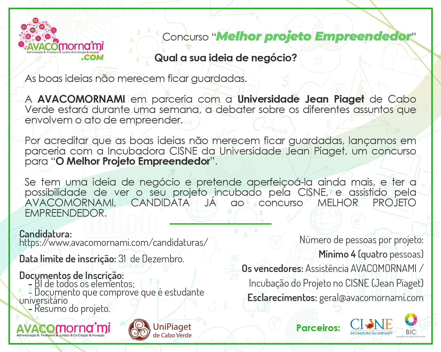 Convite Concurso - Melhor Projeto Empreendedor